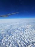 Flying over Siberia on the way to Korea